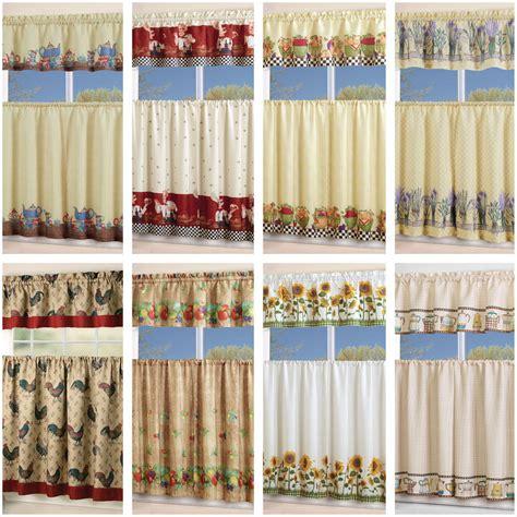 piece floral kitchen curtain  swag  tier window