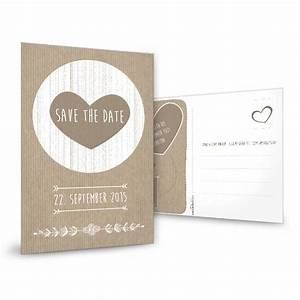 Save The Date Karte : vintage save the date karte mit herz in packpapier optik ~ A.2002-acura-tl-radio.info Haus und Dekorationen