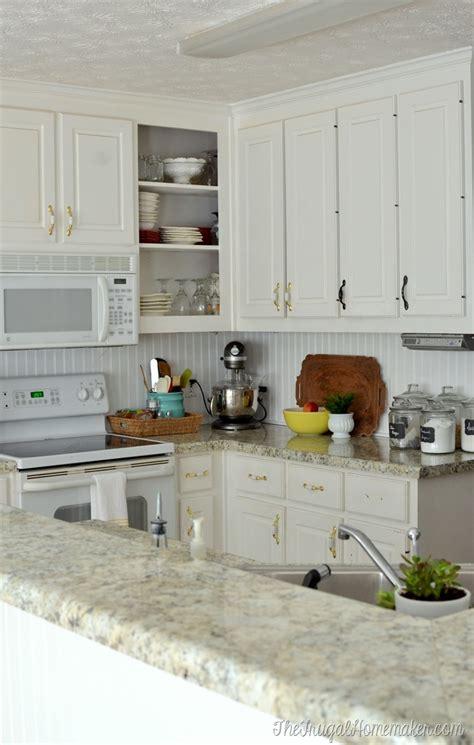 beadboard kitchen cabinets diy how to install a diy beadboard backsplash kitchen makeover 4375