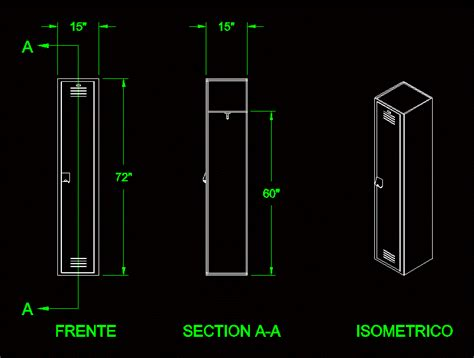 locker  dwg block  autocad designs cad