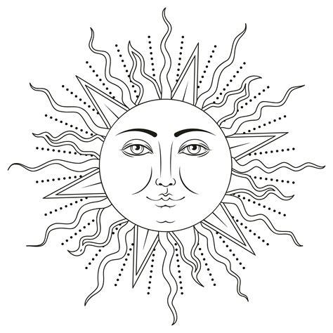 Sun with human face symbol. Vector illustration. 361611 ...