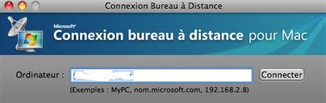 connexion bureau distance utiliser windows sur mac sans l 39 installer