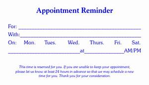 4 free appointment card templates word excel pdf formats With medical appointment card template free