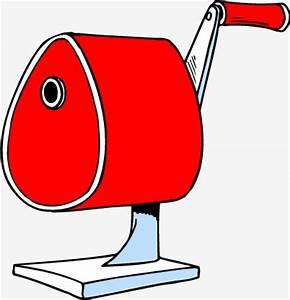Cartoon red pencil sharpener Vector, Red Cartoon, Pencil ...