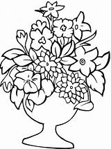 Flower Coloring Printable Pages Printables sketch template