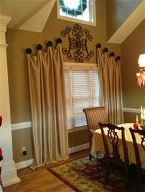 curtains on window treatments hanging