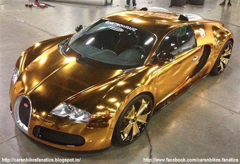 car bike fanatics gold plated bugatti veyron