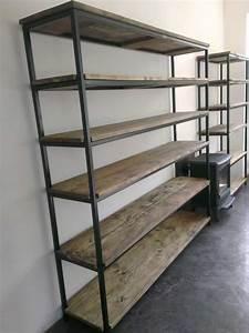 Etagere Metal Et Bois : etagere bois et metal digpres ~ Teatrodelosmanantiales.com Idées de Décoration