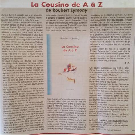 la cuisine de a à z la cousino de a à z roubert eymony livre de cuisine