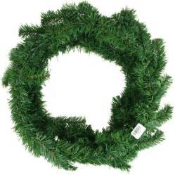 artificial christmas pine wreaths plain green 24 inch walmart com