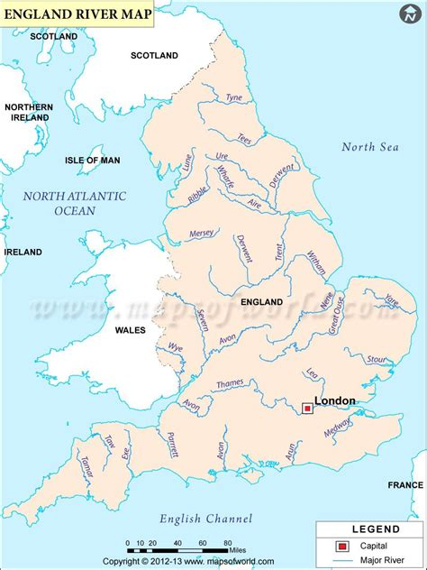 map  rivers  england engalnd rivers map england