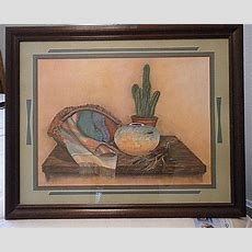 "Vintage (1980s) Southwestern Picture 31""x 25"" X 1"" By"