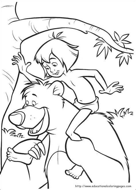 jungle book  coloring educational fun kids coloring pages  preschool skills worksheets