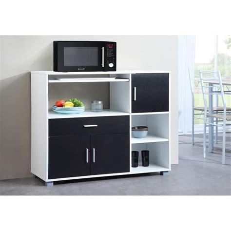 meuble de cuisine noir et blanc bari buffet de cuisine 110 cm blanc et noir achat