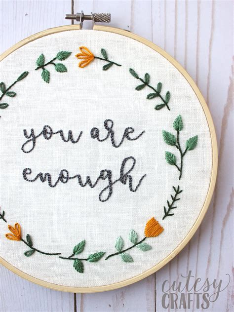 Until you're a seasoned embroiderer, utilizing a pattern for your embroidery work is a smart idea. You are Enough; Free Hand Embroidery Pattern   The Polka ...