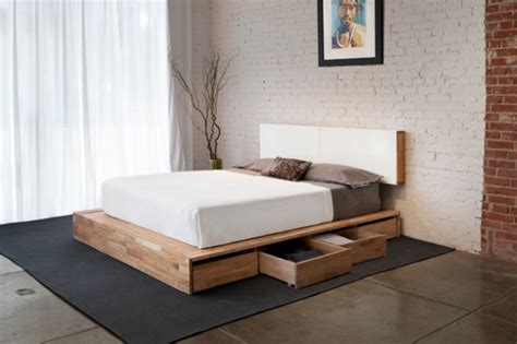 functional bed designs  drawers  extra storage space