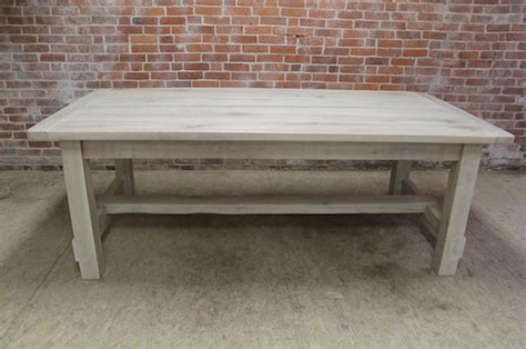 whitewashed coffee and end tables white washed farm table with stretcher lake and mountain