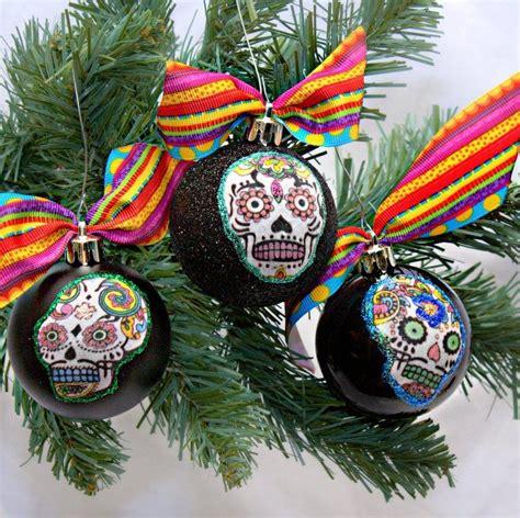 sugar skull christmas ornaments   lilbittyfish