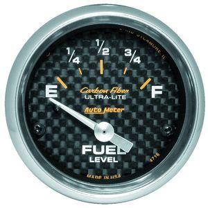 Auto Meter Carbon Fiber Electric Fuel Level Gauge With Air