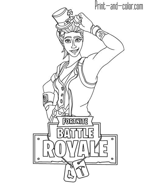 disegni da colorare fortnite skin fortnite battle royale coloring page sgt green clover