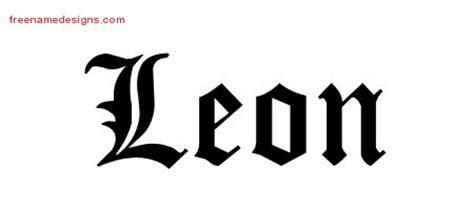 blackletter  tattoo designs leon printable
