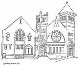 Church Coloring Drawing Pages Hill Baptist Temple Virginia College Lynchburg Joash Idaho Falls Sketch Pencil Printable Buildings Realistic Architecture Colorful sketch template