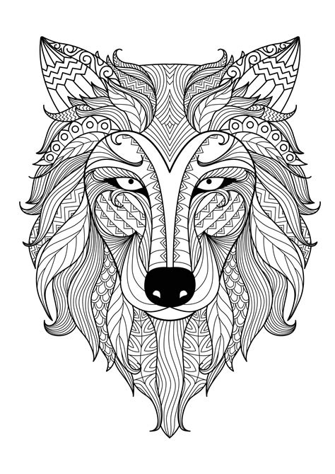 incredible wolf wolves adult coloring pages