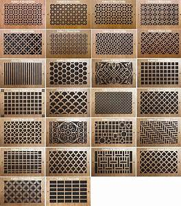 pattern cut grills wood return air grill With what kind of paint to use on kitchen cabinets for custom laser cut wall art