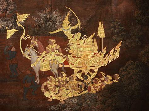 ramayana   adorn  walls  thailands