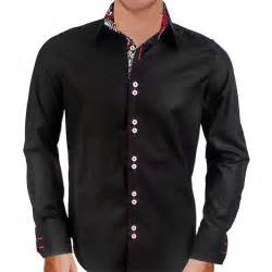 Black Men Designer Dress Shirt