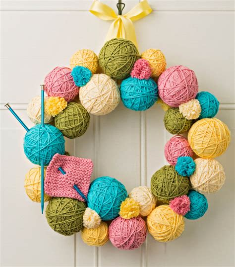 yarn ball wreath joann