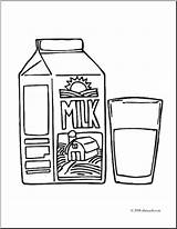 Milk Coloring Carton Clip Pages Dairy Abcteach Juice Clipart Cow Template sketch template