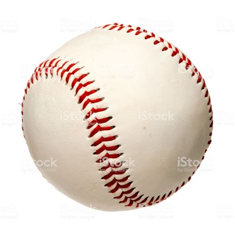 Baseball Image Baseball On White Stock Photo More Pictures Of Istock