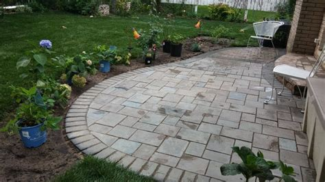 cost of unilock pavers unilock richcliff patio hardscape