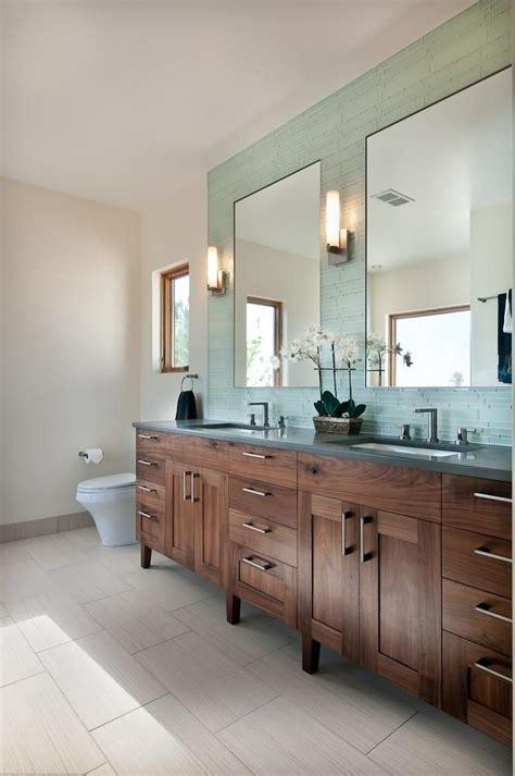 rift sawn black walnut master bath vanity im obsessed