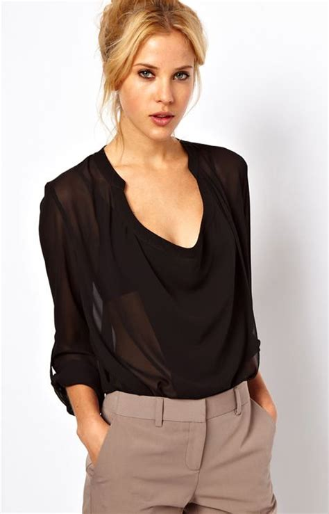 sheer black blouse black sheer chiffon blouse my style