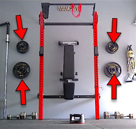 wall mounted weight plate rack diy bumper plate storage rack  pain  institute