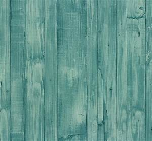 wallpaper wood turquoise 42104 60 4210460 vintage non With markise balkon mit tapete vintage chic