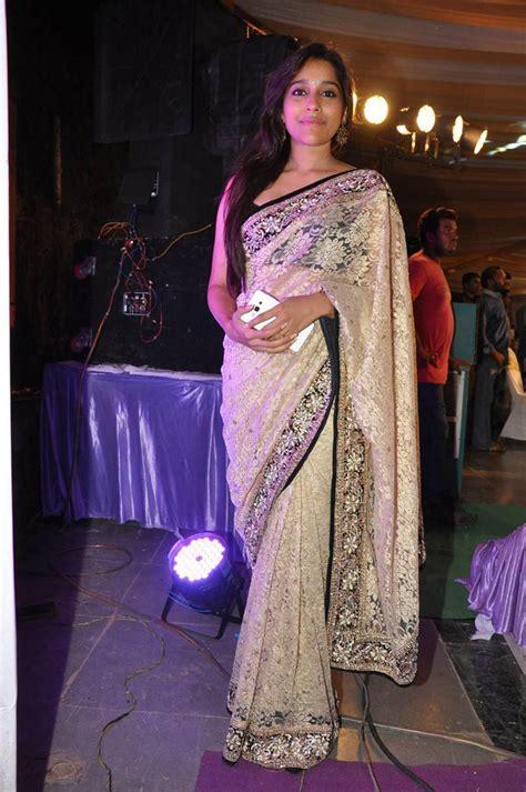 rashmi gautam in saree at dhana lakshmi talupu tadithe audio launch hq pics
