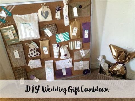 Diy Wedding Gift Countdown Board, Gifts From Bridesmaids