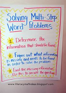 Literacy  U0026 Math Ideas  How To Solve Multi