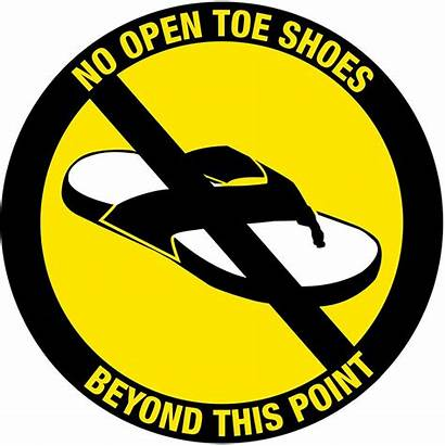Safety Shoes Open Toe Lab Sign Industrial
