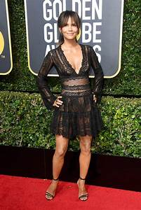 Halle Berry Wearing Black Dress at 2018 Golden Globes ...