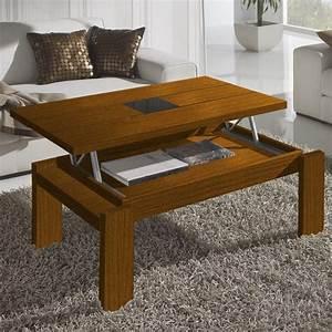 Table Basse Relevable Bois