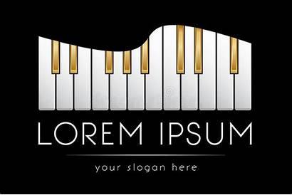 Vector Piano Keys Template Golden Grand Clip