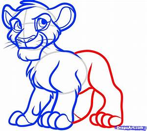 Draw Simba from The Lion King, Step by Step, Drawing ...