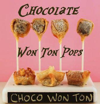 chocolate won ton pop   bake cake pops cooking