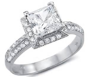 wedding rings princess cut white gold 14k white gold engagement rings that look real