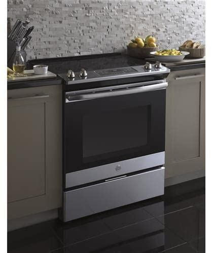 GE JS645SLSS 30 Inch Slide In Electric Range with Power