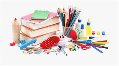 Supplies Stationery Items Cartoon Transparent Netclipart Table